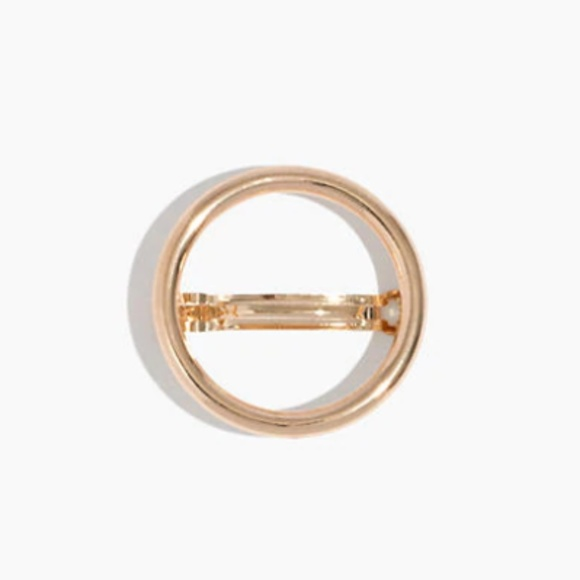 Madewell Accessories - Gold Rounded Circle Barrette